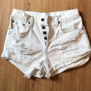 white LF shorts